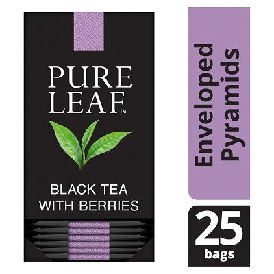 Pure Leaf Black Tea with Berries 25 Enveloped Tea Bags -