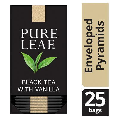 Pure Leaf Black Tea with Vanilla 25 Enveloped Tea Bags -