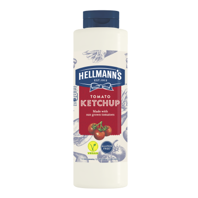 Hellmann's Ketchup 856ml - 73% of guests have a better impression of an establishment when it uses brands they likeⁱ