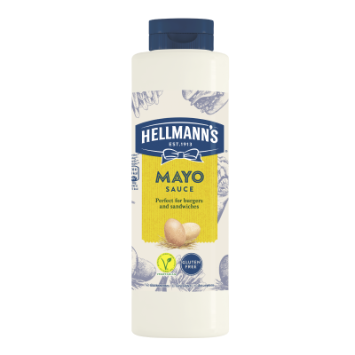 Hellmann's Mayo Sauce 850ml - 73% of guests have a better impression of an establishment when it uses brands they likeⁱ