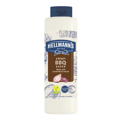 Hellmann's Sweet BBQ Sauce 792ml - 73% of guests have a better impression of an establishment when it uses brands they likeⁱ