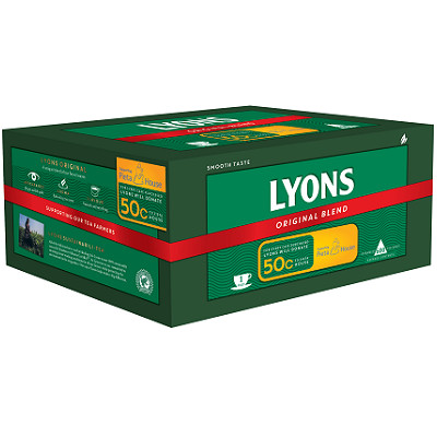 Lyons Original 600 1 Cup Catering Tea Bags - Pieta House special case