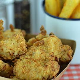 Buttermilk jerk fried chicken