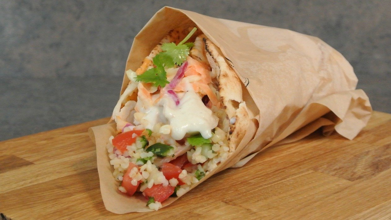 Lebanese chicken wrap