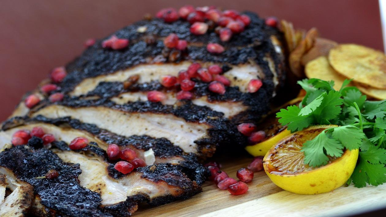 Persian turkey with pomegranate