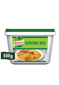 Knorr Biryani Mix [Sri Lanka Only] (24x500G) - Knorr Biryani Mix is a perfect biryani base that delivers REAL Taste and Aroma to your dish every time
