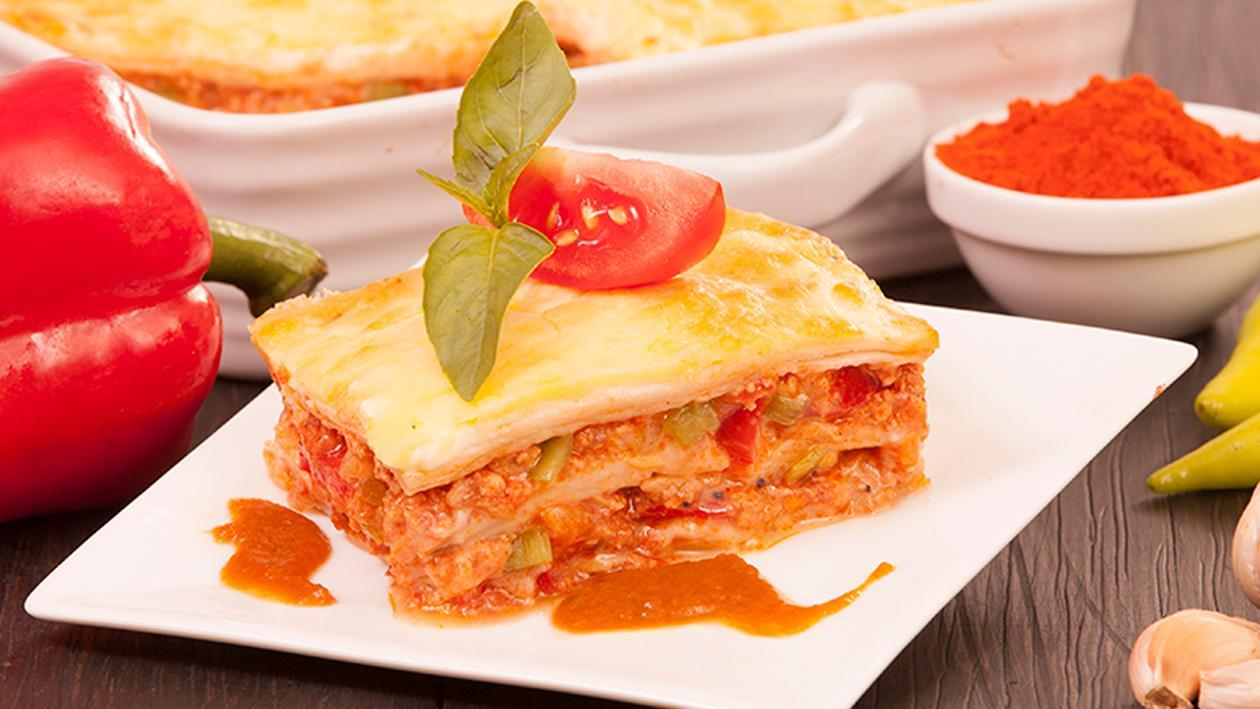Asian Roti Chicken Lasagne