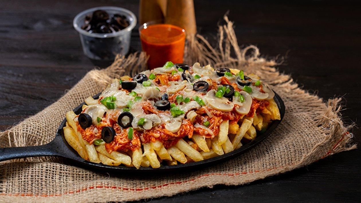 BBQ Chicken Pizza Fries