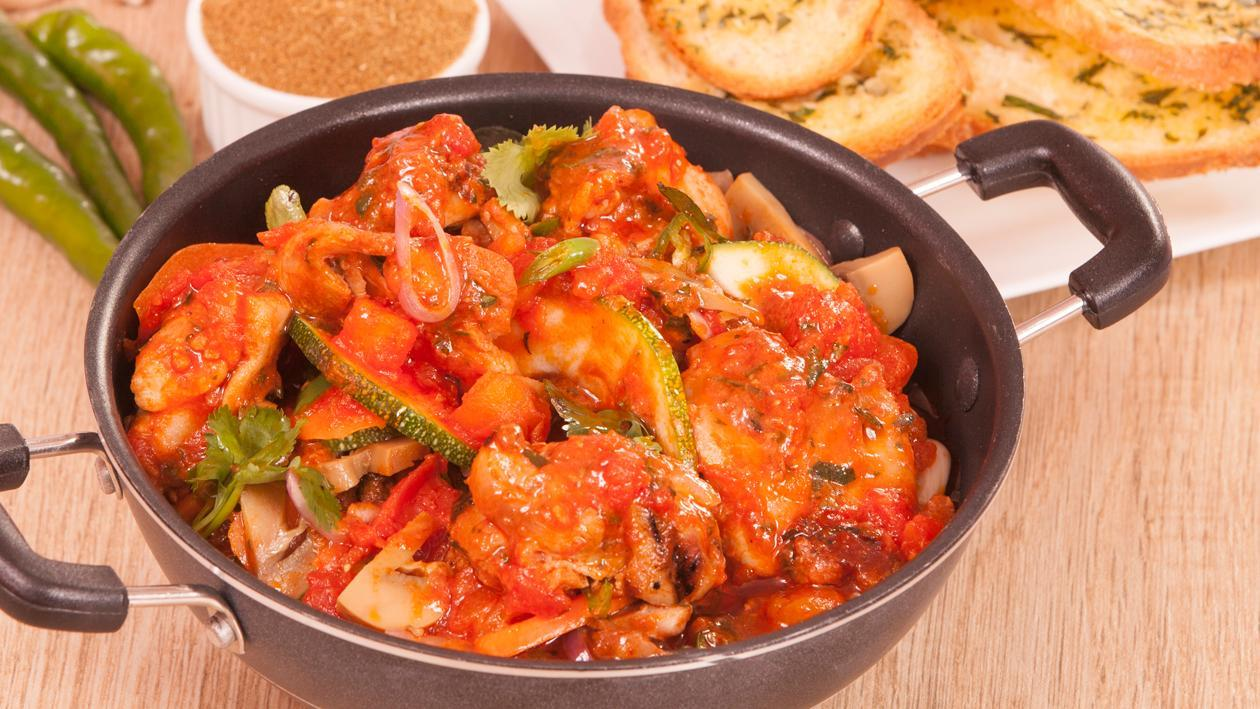 Chicken and Vegetable Cacciatore Asian Style