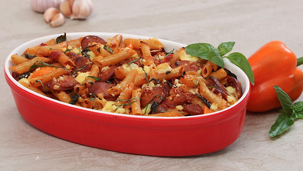 Chorizo Pasta Bake