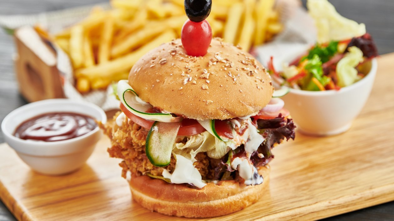Crispy Fried Chicken Thigh Burger