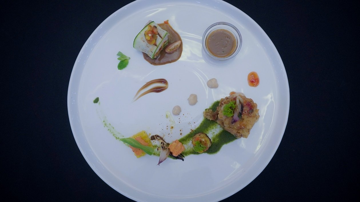 Duo of Oriental Spiced Crispy Chicken and Roulade by Chef R.S.R. Deshapriya