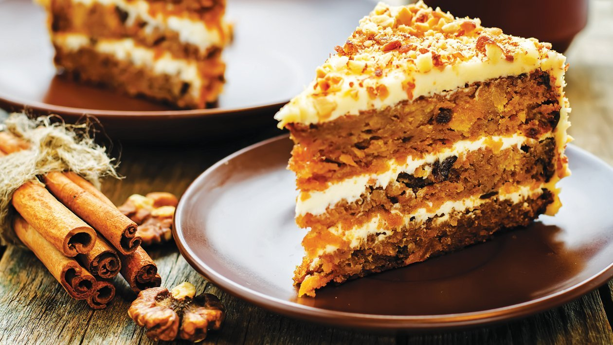 Orange & Cinnamon Hinted Carrot Cake
