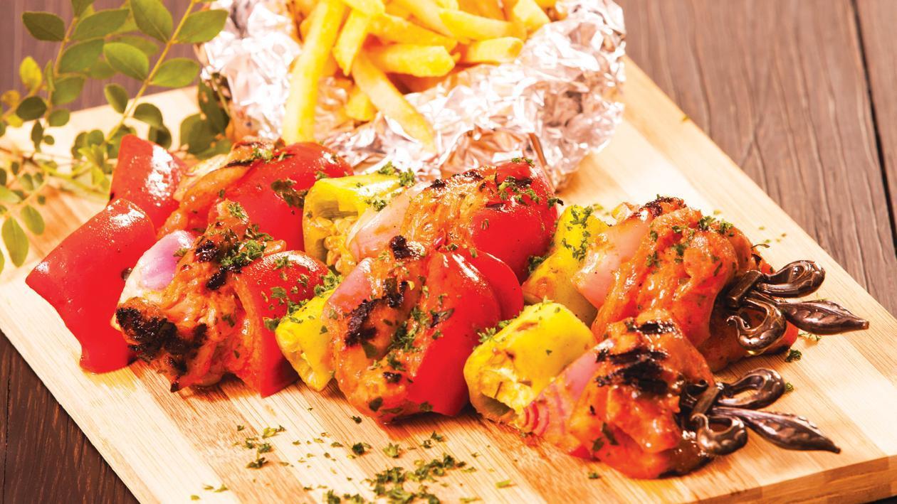 Oriental Chicken Kebabs