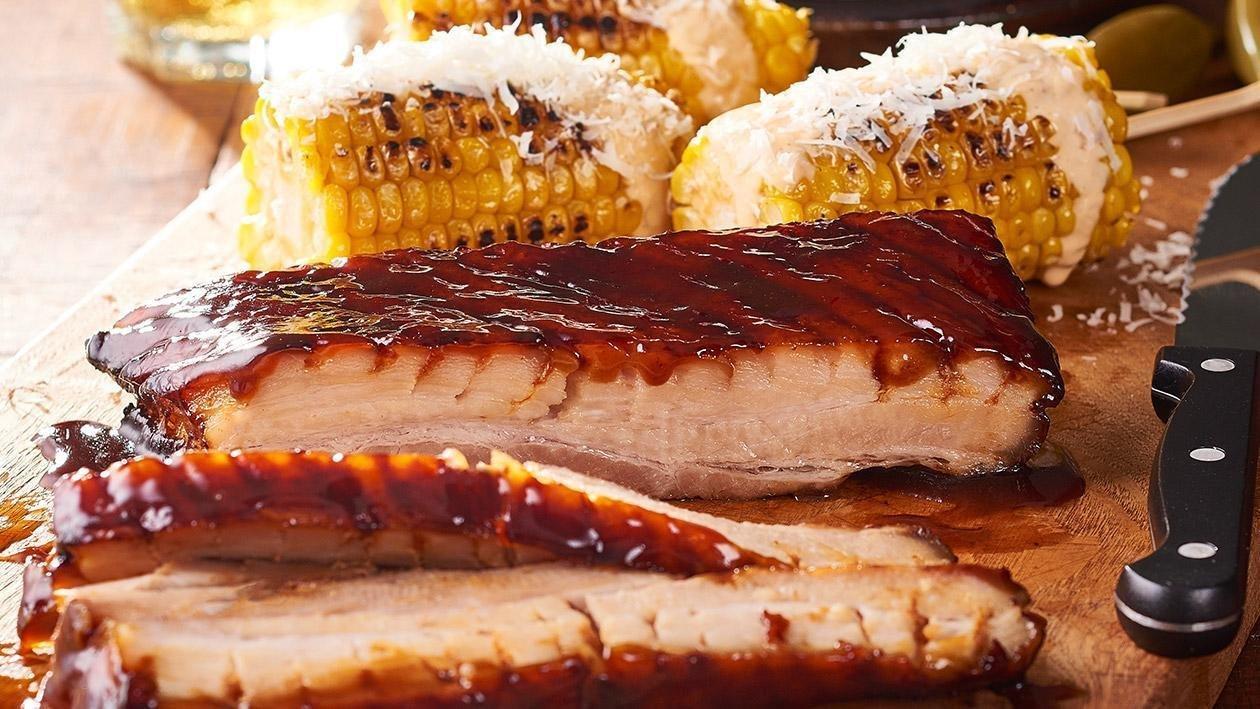 Pork Belly Steak, Maple, Balsamic Glaze