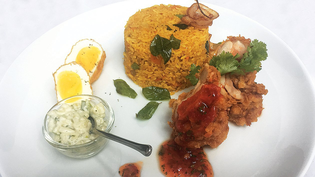 Spring Vegetable Chicken Biryani by Chef Disanayake and Chef Sandaruwan