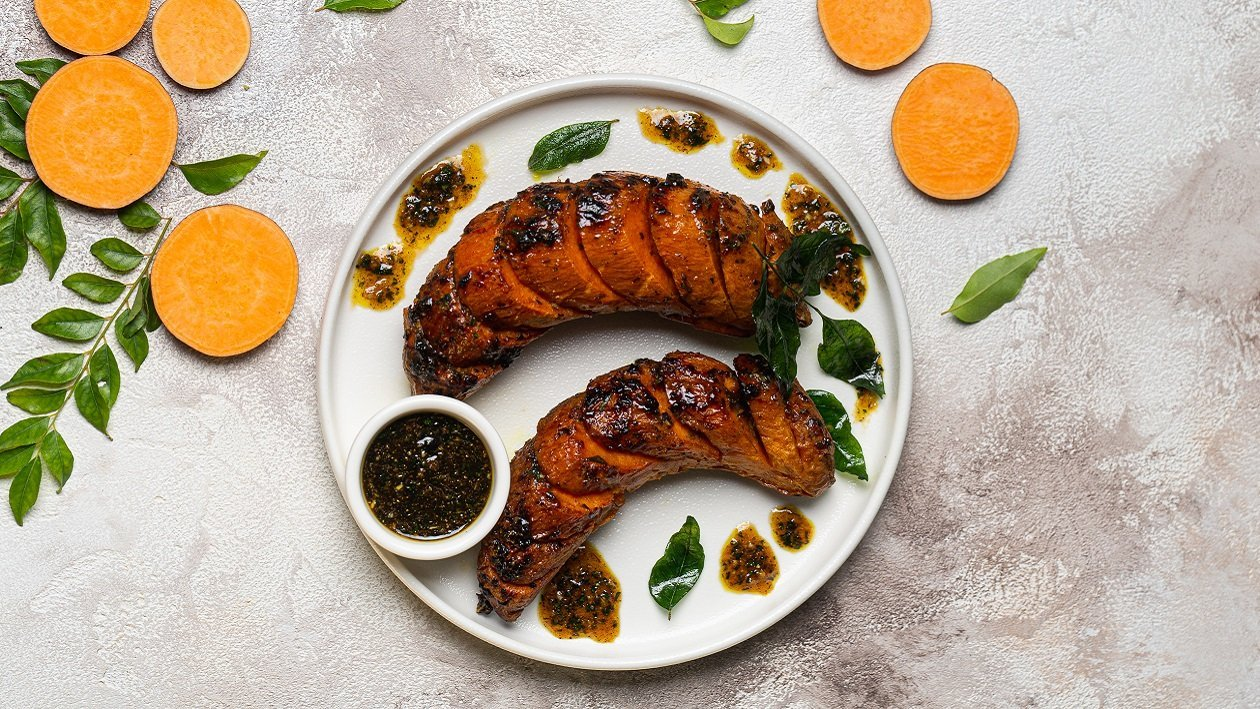 Sweet Potatoes infused with Asian Herbs