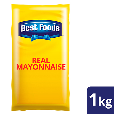 Best Foods Real Mayonnaise 1kg - Made from high quality ingredients, Best Foods Real Mayonnaise makes your salad unique in taste and stay fresh.