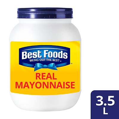 Best Foods Real Mayonnaise 3.5L - Made from high quality ingredients, Best Foods Real Mayonnaise makes your salad unique in taste and stay fresh.