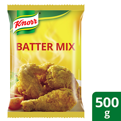 Knorr Batter Mix 500g - Knorr Batter Mix delivers the long-lasting crispiness and perfectly golden brown product