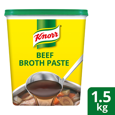 Knorr Beef Flavoured Broth-Base 1.5kg - Knorr Beef Broth gives the authentic and natural beef broth flavour in short time