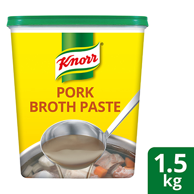 Knorr Pork Flavoured Broth-Base 1.5kg - Knorr Pork Broth gives the authentic and natural pork broth flavour in short time