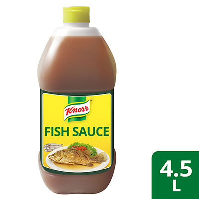 Knorr Premium Fish Sauce 4.5L - Knorr Fish Sauce has the right amount of saltiness perfect for savory dishes because it's made with premium anchovies