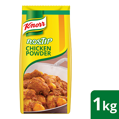 Knorr Rostip All-In-One Chicken Seasoning Powder 1kg - Made from real chicken, Knorr Rostip All-In-One Chicken Seasoning Powder delivers flavourful taste to every dish