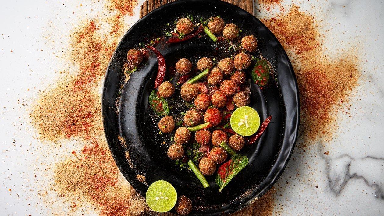 Fried Laab Pork