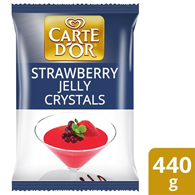 Carte d'Or Strawberry Flavoured Jelly Crystals 440g -