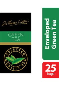 Sir Thomas Lipton Green Tea Envelope Teabags 2g -