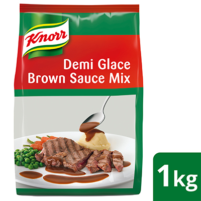 Knorr Demi Glace Brown Sauce Mix 1kg - Knorr Demi Glace Brown Sauce is an easy to use product that gives you a consistently delicious demi glace sauce every time.