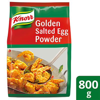 Knorr Golden Salted Egg Powder 800g - Knorr Golden Salted Egg Powder is an easy to use product that delivers an authentic salted egg taste and texture with each preparation.