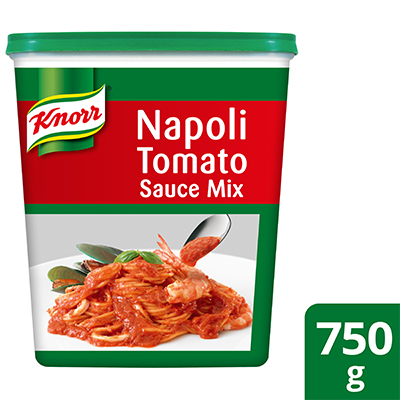 Knorr Napoli Tomato Sauce 750g - Knorr Napoli Tomato Sauce helps you deliver a consistently great tasting menu because it helps you deliver consistent pasta sauces.