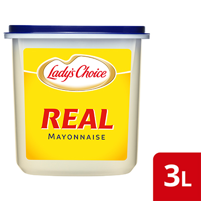 Lady's Choice Real Mayonnaise 3L - Lady's Choice Real Mayonnaise is a versatile base that helps create variety of dips to make an exciting and unique dining experience.
