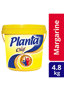 Planta Margarine Chef 4.8kg - Planta delivers that golden colour and fragrant aroma loved by Malaysians since the 1930s.