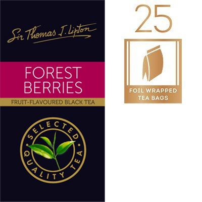 Sir Thomas Lipton Forest Berries 2g - A delicious blend of black tea and berry flavours that is pleasing to the senses.