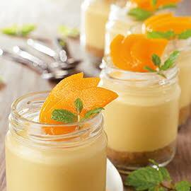 Mango Lime Cheese Cake Mousse