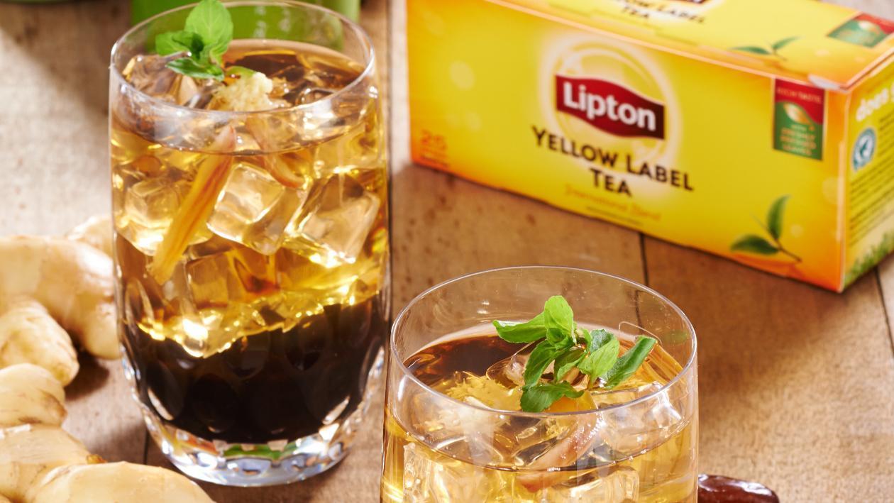 Ginger Mint Date Iced Tea