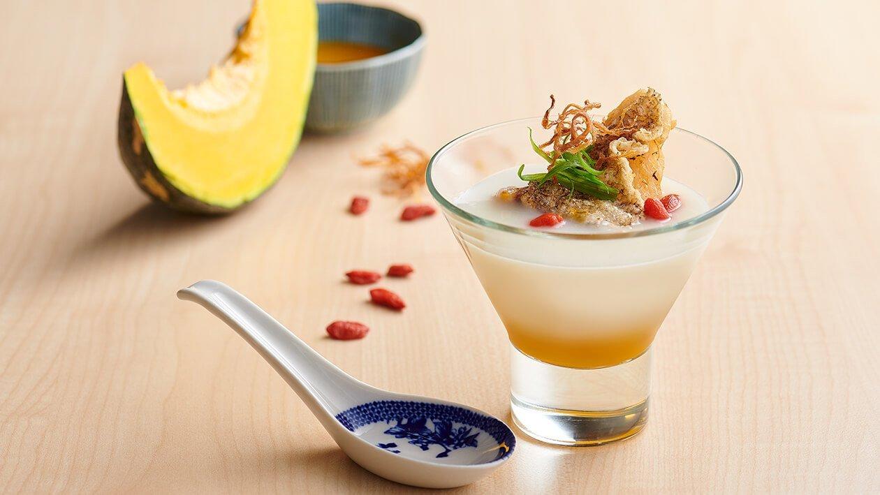 Golden Porridge with Cod Fish