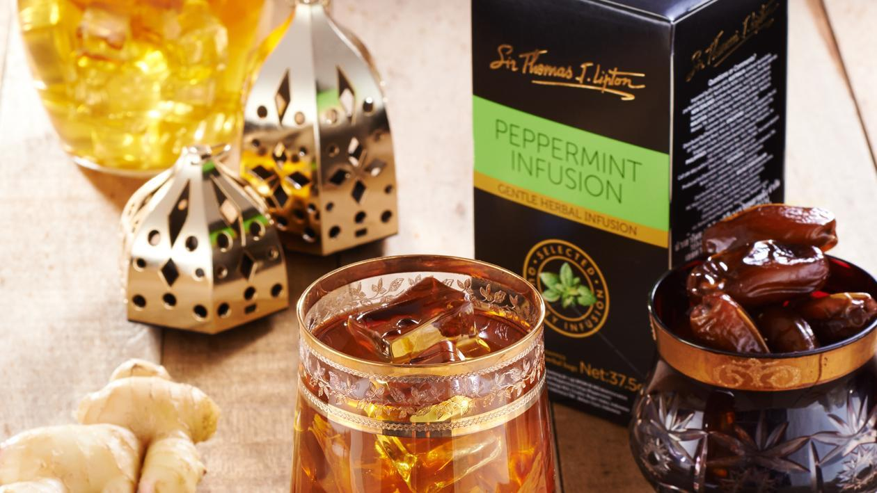 Iced Ginger Kurma Peppermint Tea