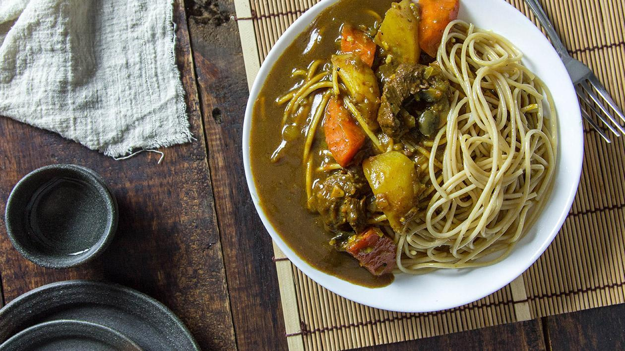 Japanese Beef Curry Pasta