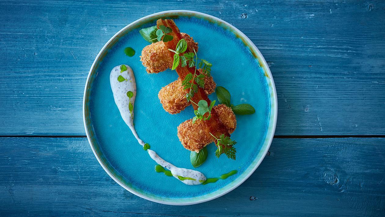 Potato Croquettes with Chicken Ham and Mozzarella