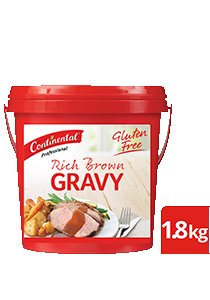 CONTINENTAL Rich Brown Gravy Gluten Free 1.8kg -