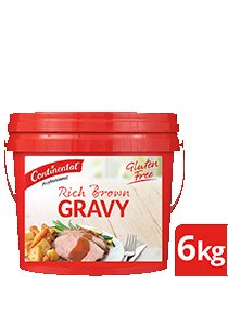 CONTINENTAL Rich Brown Gravy Gluten Free 6kg -