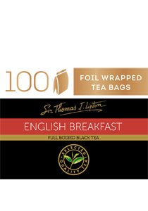 SIR THOMAS LIPTON English Breakfast 100's -