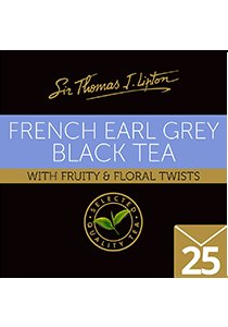 SIR THOMAS LIPTON French Earl Grey Envelope 25's - Individually sealed for a premium and fresher tea.