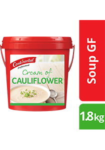 CONTINENTAL Professional Gluten Free Cream of Cauliflower Soup Mix 1.8kg - CONTINENTAL Professional Soups deliver an authentic homestyle taste.