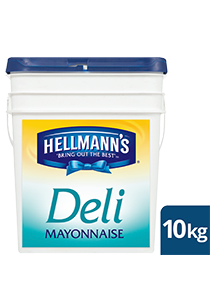 HELLMANN'S Deli Mayonnaise 10kg - New HELLMANN'S Deli Mayo delivers sweet, tangy and Deliciously affordable sandwiches.