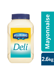 HELLMANN'S Deli Mayonnaise 2.6kg - New HELLMANN'S Deli Mayo delivers sweet, tangy and Deliciously affordable sandwiches.